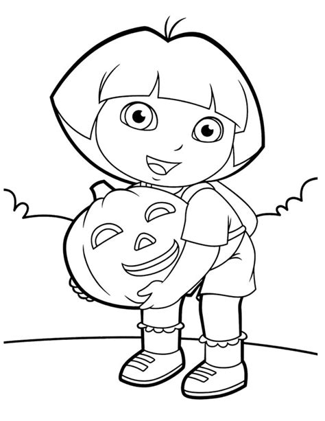 halloween coloring pages dora dora coloring lots of dora coloring pages and printables