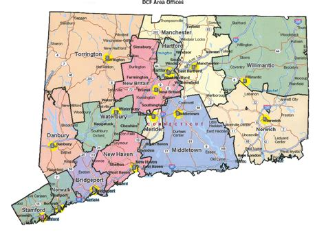 map of ct map of connecticut maps