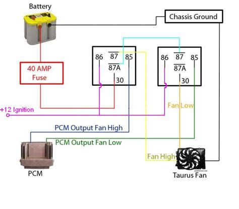 cooling fan relay wiring diagram for lsx get free image