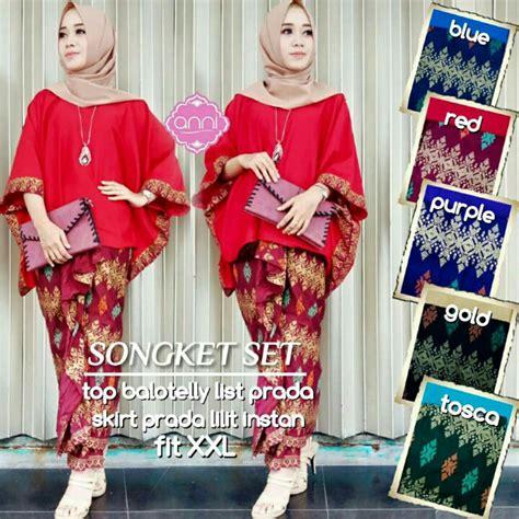 Gongke Set Baju Setelan Wanita gambar jual songket set baju kondangan setelan wanita muslim kebaya imafashionshop di rebanas