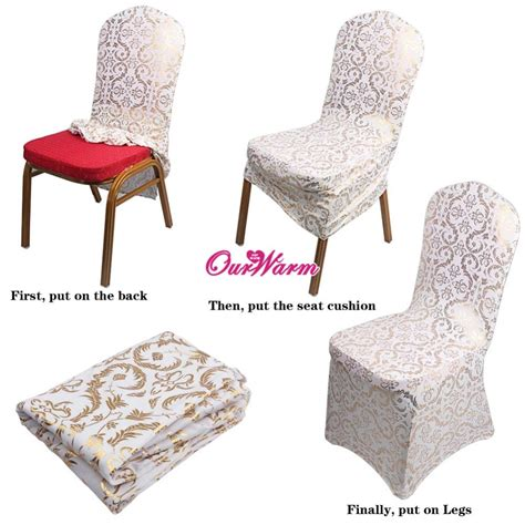 gold wedding chair covers buy wholesale gold chair covers from china gold