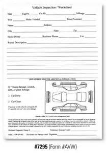 Car Rental Handover Form Vehicle Check In Sheet Pictures To Pin On