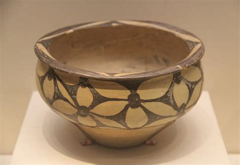 fileneolithic painted pottery basin yangshao culture