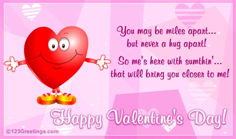 valentines message for my family and friends a s day hug for you free family ecards