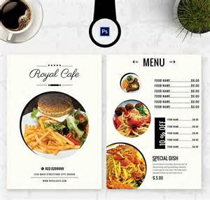 free template menu 6 free menu templates cafe restaurant free
