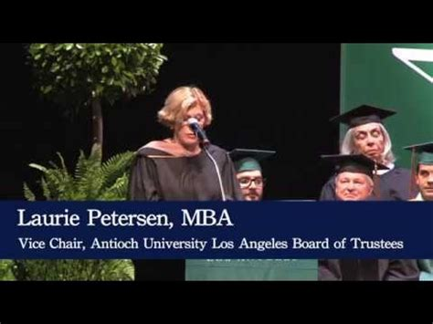 Antioch Mba Reputation by Laurie Petersen Mba Aula Commencement 2015