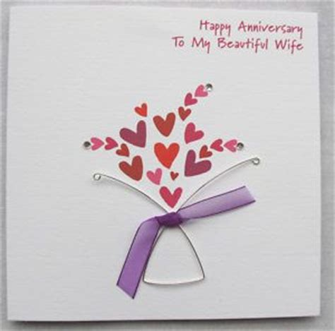 Handmade Gifts For Husband On Anniversary - made anniversary cards handmade wedding anniversary