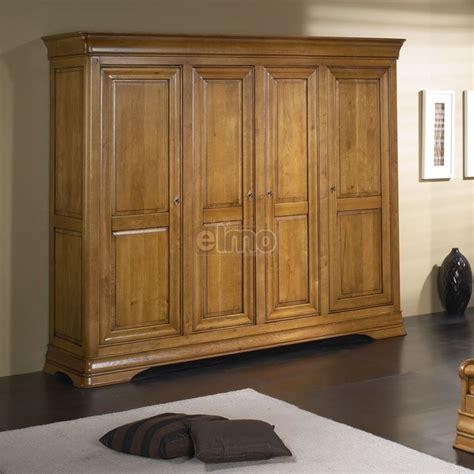 armoire de chambre    portes merisier massif style