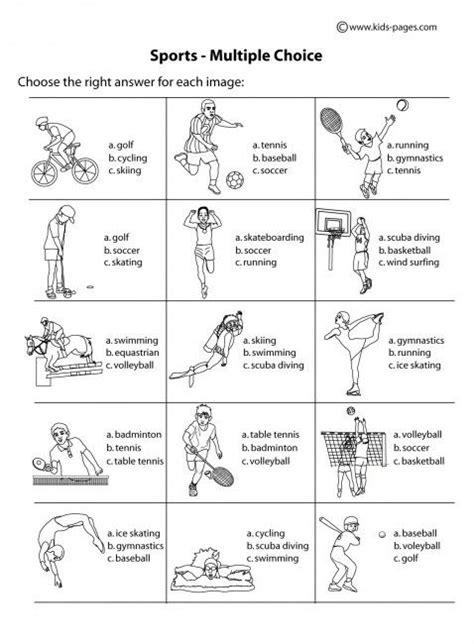 printable tennis quiz sport worksheets for kids choice b w worksheet sports
