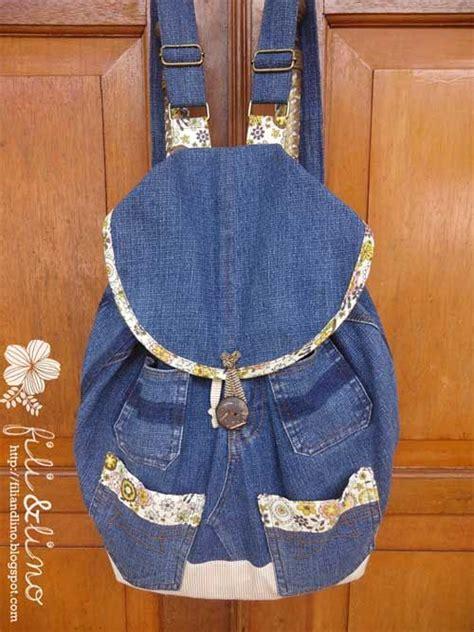 jeans backpack pattern free backpack tutorial denim backpack crafts blue jean