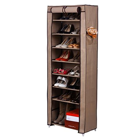 shoe storage with cover songmics 10 tiers shoe rack closet with cover shoe storage