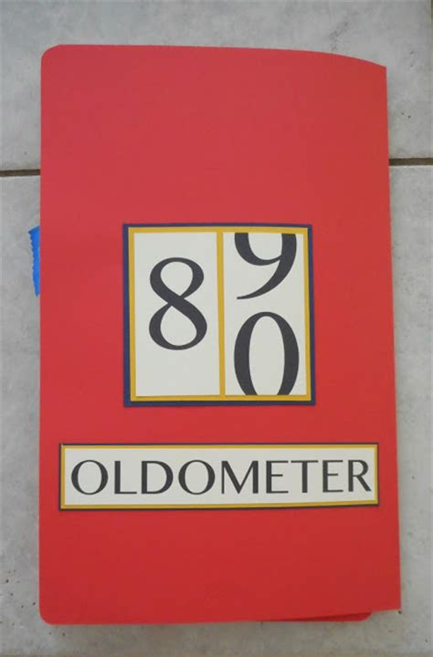 s 80th birthday oldometer card handmade card