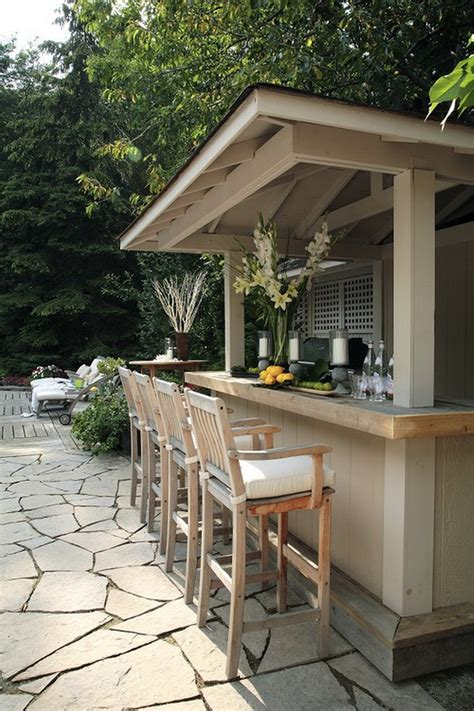 Exterior Casual Backyard Bars Designs With Comfortable Patio Bar Designs