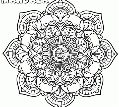 mandalas coloring pages on coloring book info fancy mandala coloring page for unique pages