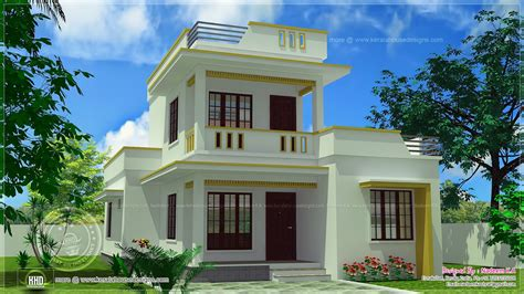simple home design kerala simple flat roof home design in 1305 sq feet kerala