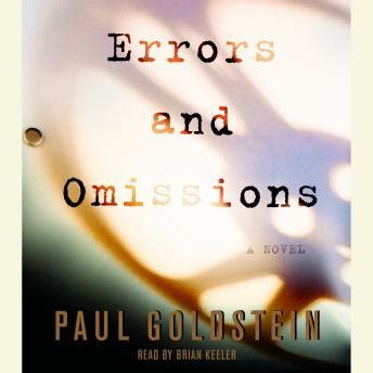 Errors And Omissions listen to errors and omissions by paul goldstein at