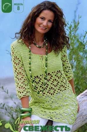 Blouse Knit 688 241 best кофты туники свитера крючком images on