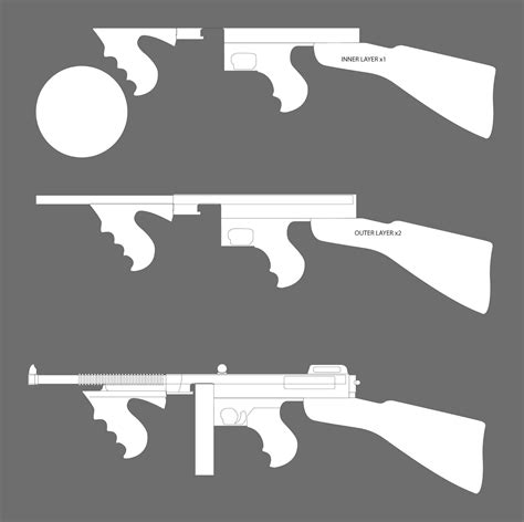 printable paper gun templates timbo s creations tommy gun marshmallow shooter