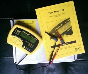 resistance capacitor inductor peak atlas inductor capacitor resistor passive component analyser tester lcr40 ebay