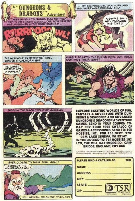 dungeons and dragons comic by 8 best images about dungeons and dragons ads in comic books on rpg and larger
