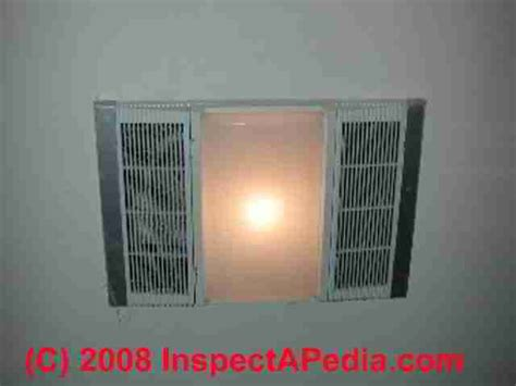 heat vent light combo bathroom vent fan codes installation inspection repairs