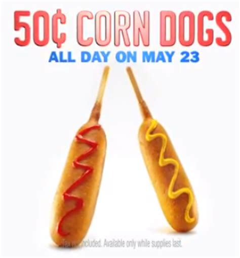 50 cent corn dogs sonic 50 cent corn dogs southern savers