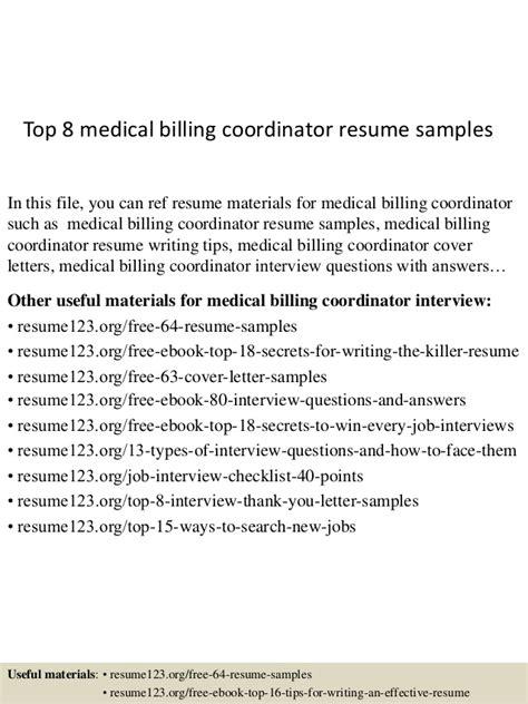 billing coordinator cover letter