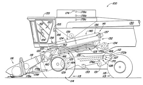 combine harvester parts diagram patent us20030216158 harvester with system