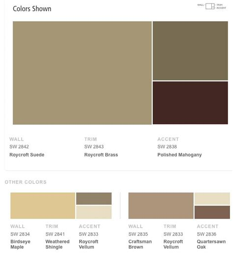 Sherwin Williams Color Schemes | sherwin williams roycroft suede