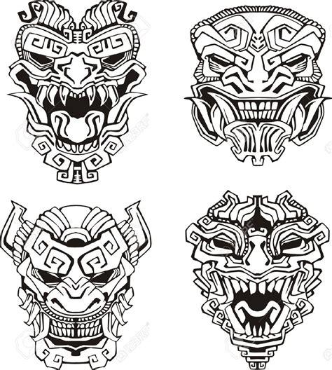 billedresultat for witch doctor mask voodoo lineart