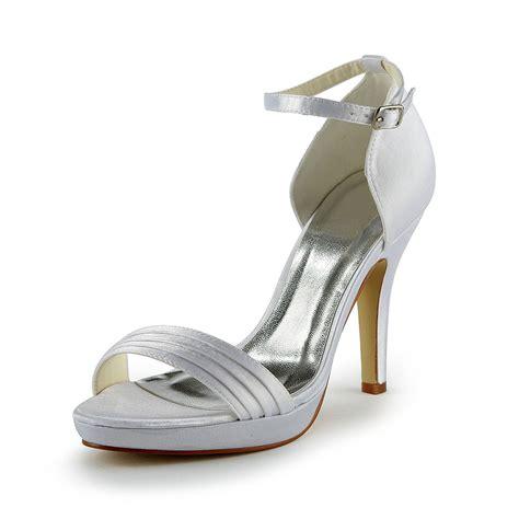 Pretty Wedding Sandals by S Pretty Satin Stiletto Heel Sandals With Buckle