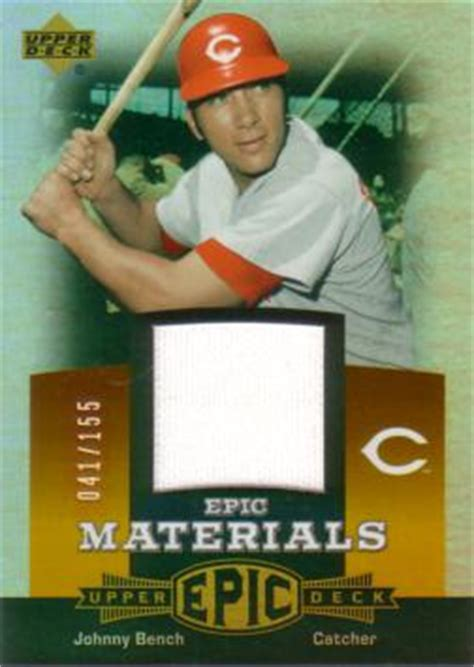 johnny bench rookie card value johnny bench baseball rookie card