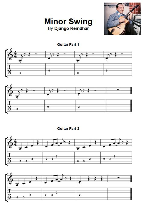 minor swing scales beginner guitar sheet pdf 10songs guitar uke v3