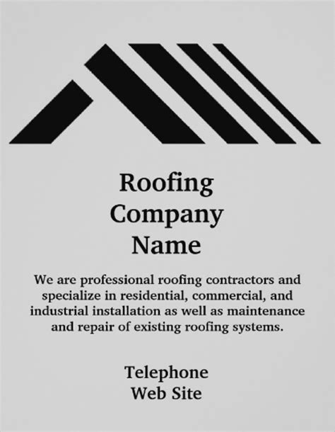 company st template roofing business orange roofing business card sc 1