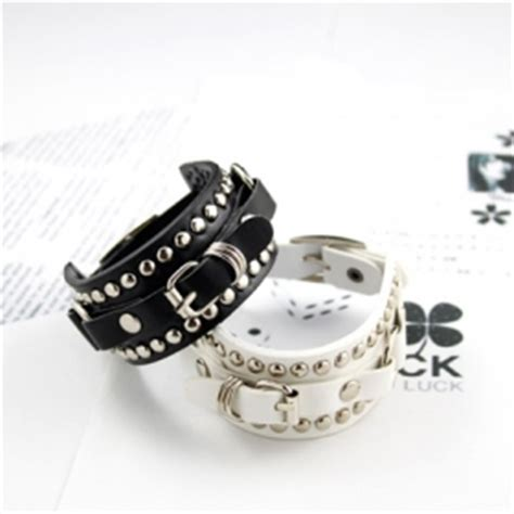 cool korean fashion rivet leather bracelet leather bracelets bracelets