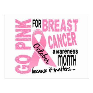 Dont Forget October Is National Breast Cancer Awareness Month by October Breast Cancer Awareness Month Postcards Zazzle