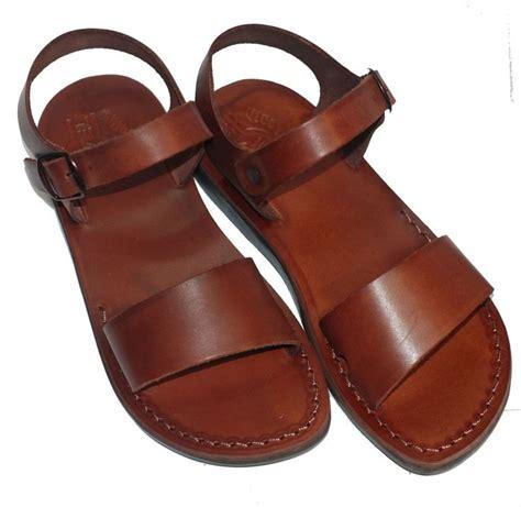 sandal camel camel sandals the jesus leather sandals handmade brown