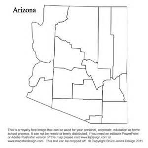 geography arizona outline maps
