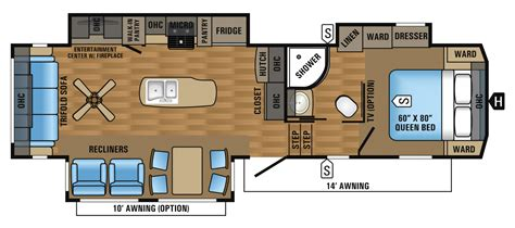 5th wheel floor plans 2017 eagle fifth wheel floorplans prices jayco inc