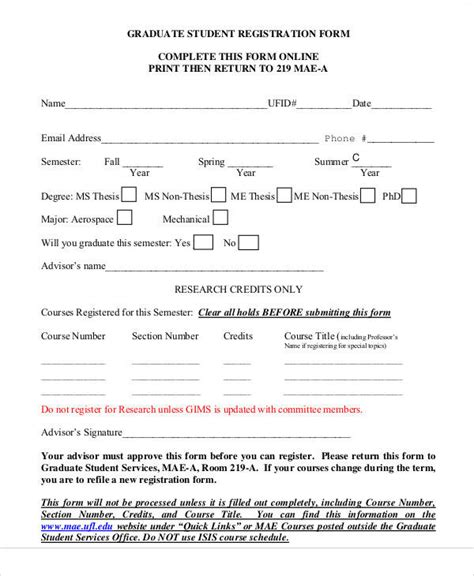 51 Registration Forms In Pdf Sle Templates Student Registration Form Template In Html