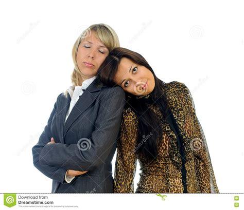 imagenes libres negocios dos mujeres de negocios cansadas fotos de archivo libres