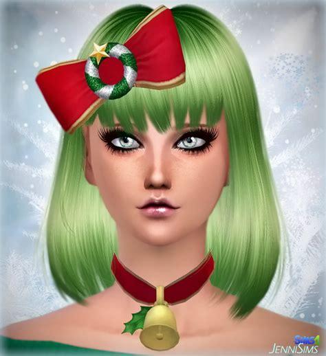 jenni sims new mesh accessory sets bow heart breaker necklace bell xmas bow christmas at jenni sims 187 sims 4