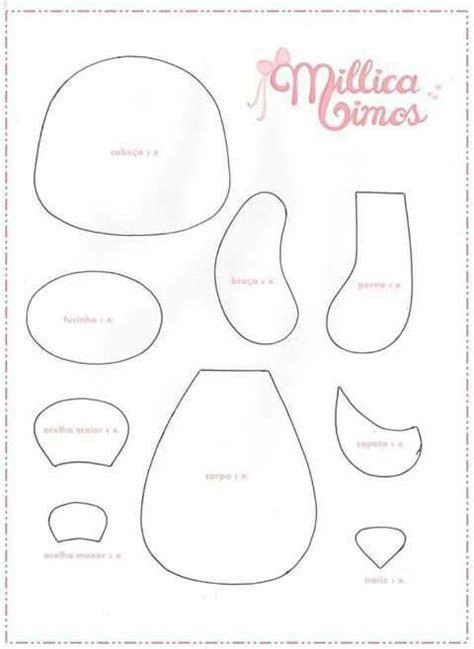 felt templates urso balao moldes diversos baby sandals