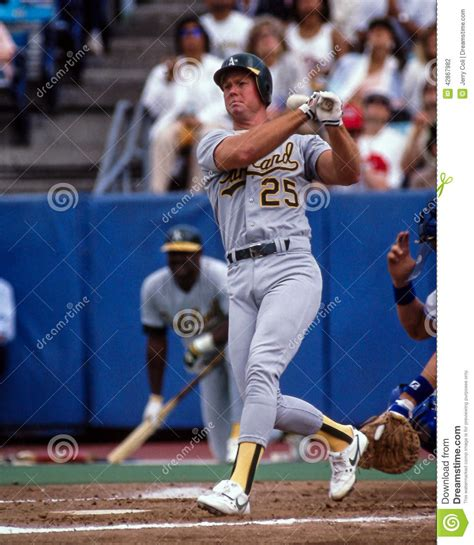 mark mcgwire swing mark mcgwire oakland a s editorial photography image