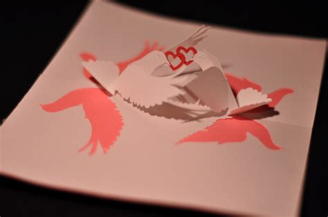 twisting hearts pop up card template lovebirds pop up card template creative pop up cards