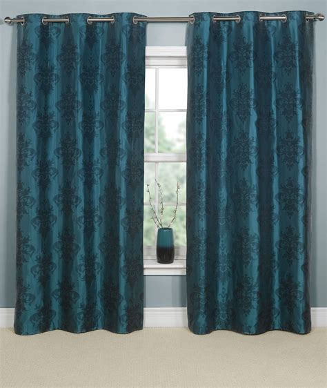 Teal Curtains Linea Ikat Damask Teal Curtains 164x183cm Review