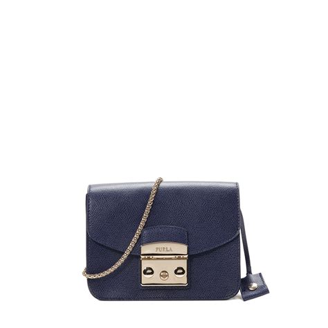furla metropolis mini bag in blue lyst