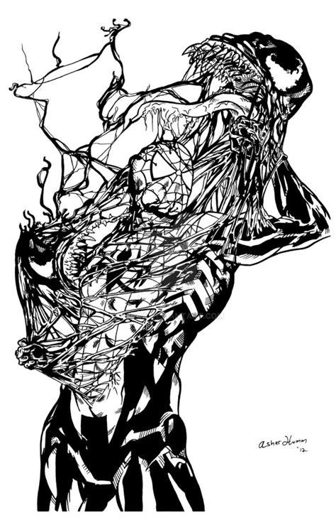 Spiderman Vs Venom By Pycca On Deviantart Vs Venom Coloring Pages