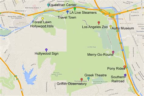 griffith park map guide to visiting griffith park in los angeles