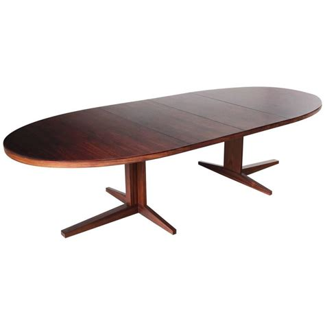 oval extension dining room tables extendable oval dining table in rosewood for sale at 1stdibs